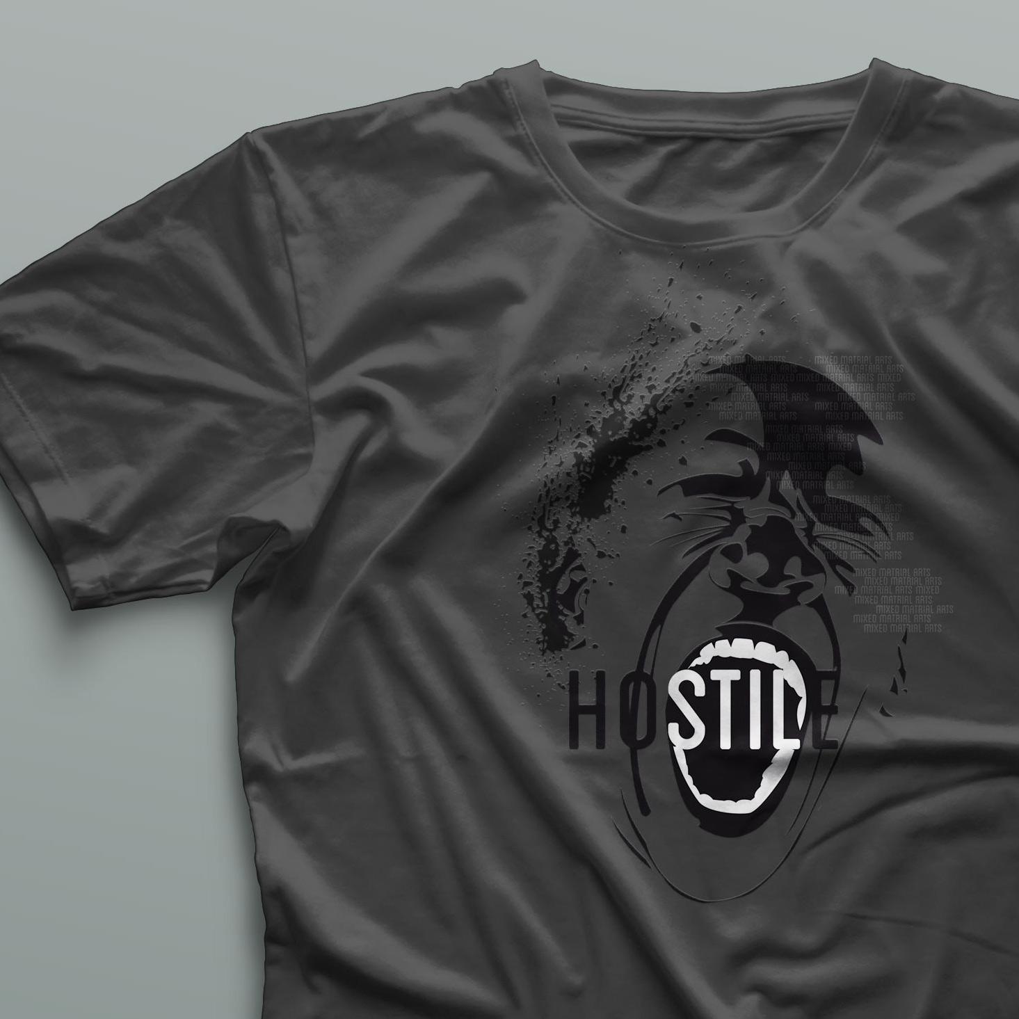 Diseño de camiseta Hostile