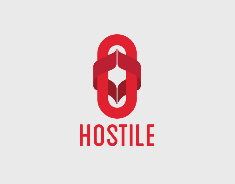 Versión en color del logotipo para la firma Hostile