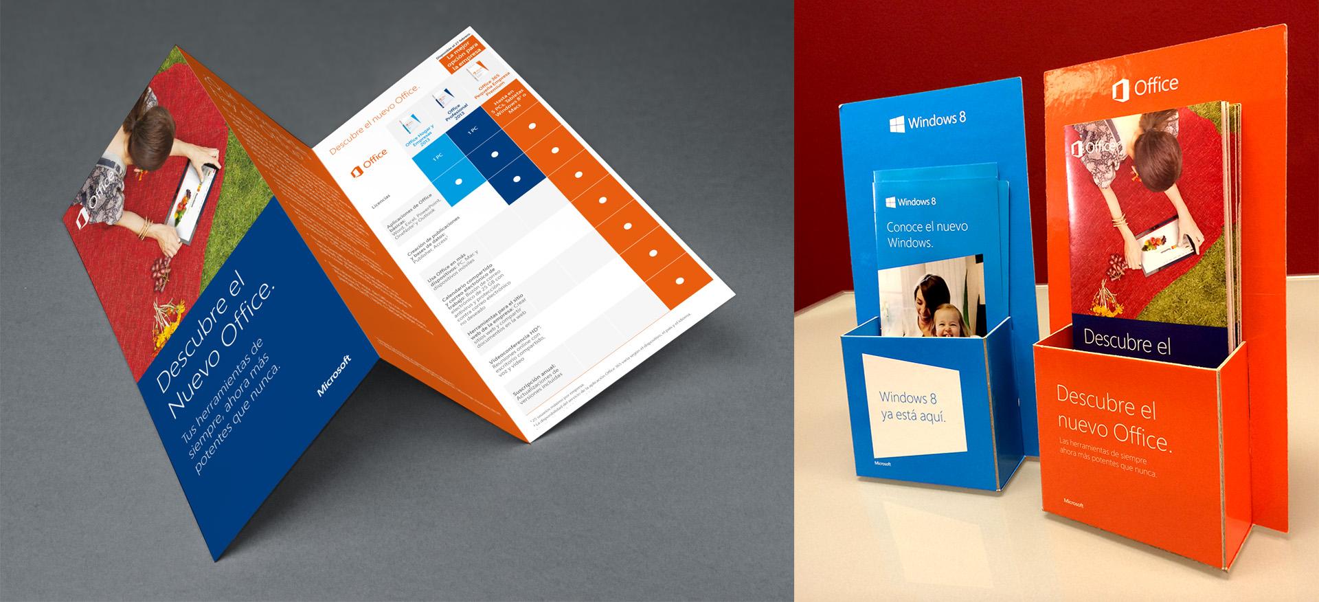 Tríptico y Portafolletos para lanzamiento del Nuevo Office