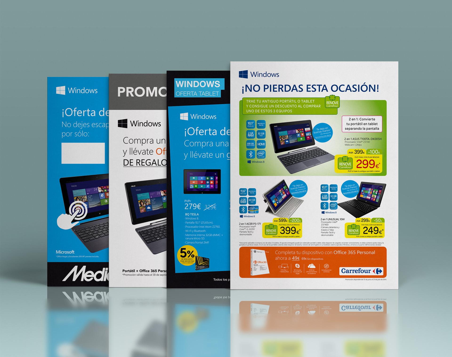 A4 para retailers (Carrefour, Worten, Media Markt, El Corte Inglés)