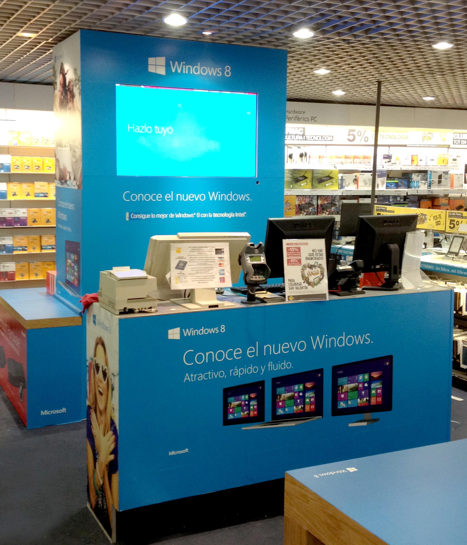 Área de experiencia Windows 8